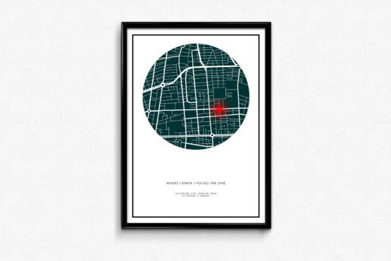 تابلوی نقشه (تابلوی لوکیشن) یک هدیه ی خاص