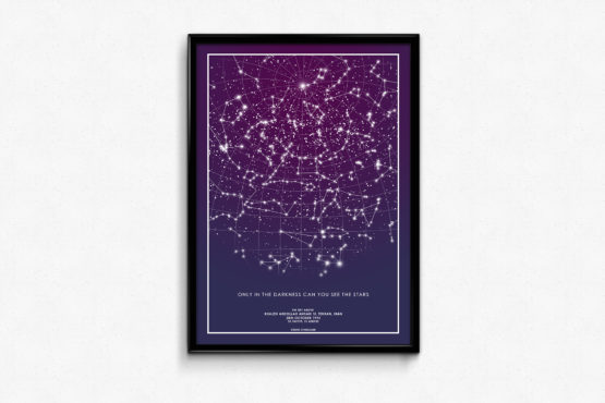 پوستر ستاره ها- تابلوی استارمپ- هدیه ی منحصر به فرد- تابلوی شخصی سازی شده.