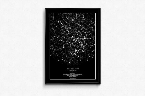 تابلوی ستاره ها (استارمپ)- رنگ مشکی