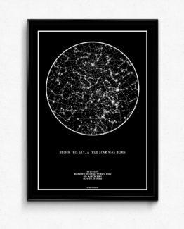 تابلوی ستاره ها (استارمپ) رنگ مشکی