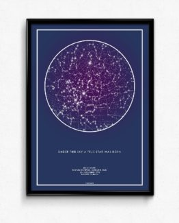 تابلوی ستاره ها (استارمپ) بنفش